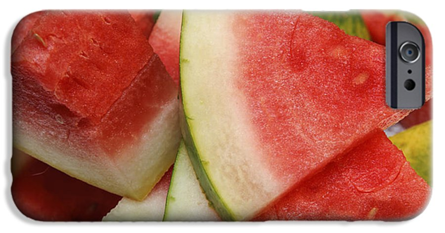 Watermelon IPhone 6s Case featuring the photograph Ice Cold Watermelon Slices 2 by Andee Design