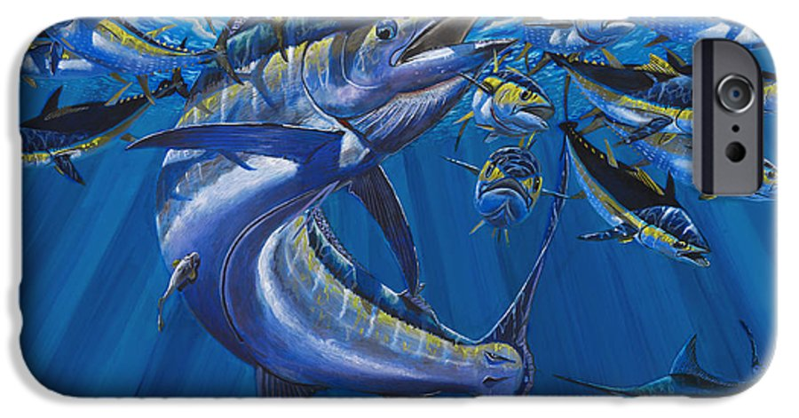 Blue Marlin IPhone 6s Case featuring the painting Intruder Off003 by Carey Chen