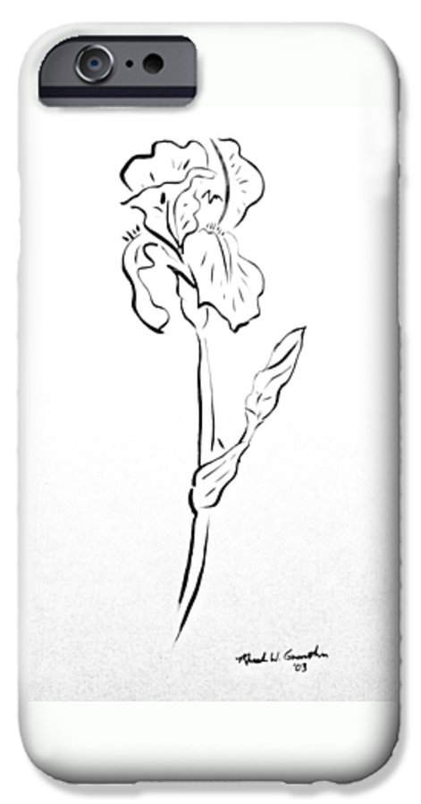 Abstract IPhone 6s Case featuring the drawing Iris II by Micah Guenther