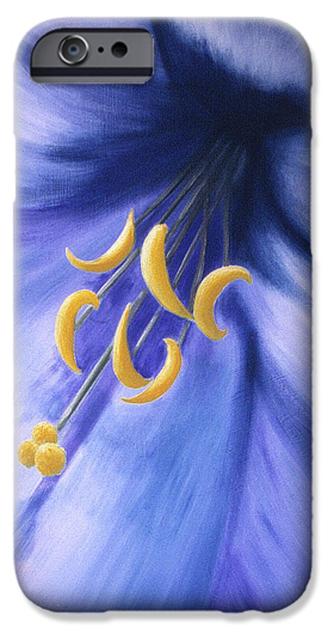 Blue IPhone 6s Case featuring the painting Joy by Christina Rahm Galanis