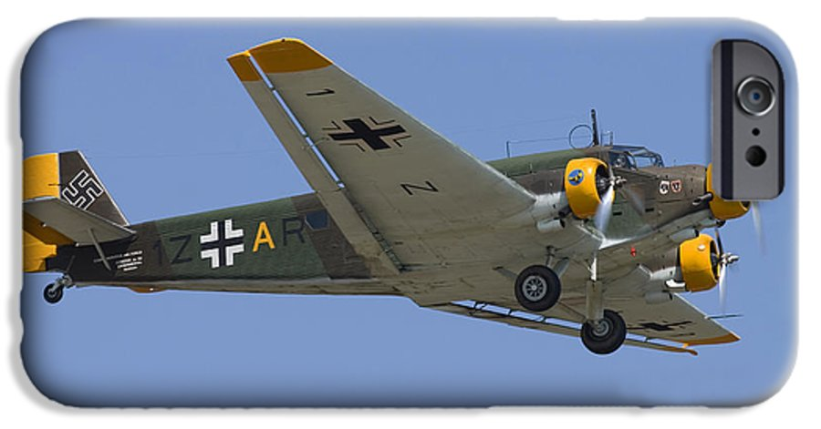 3scape IPhone 6s Case featuring the photograph Junkers Ju-52 by Adam Romanowicz