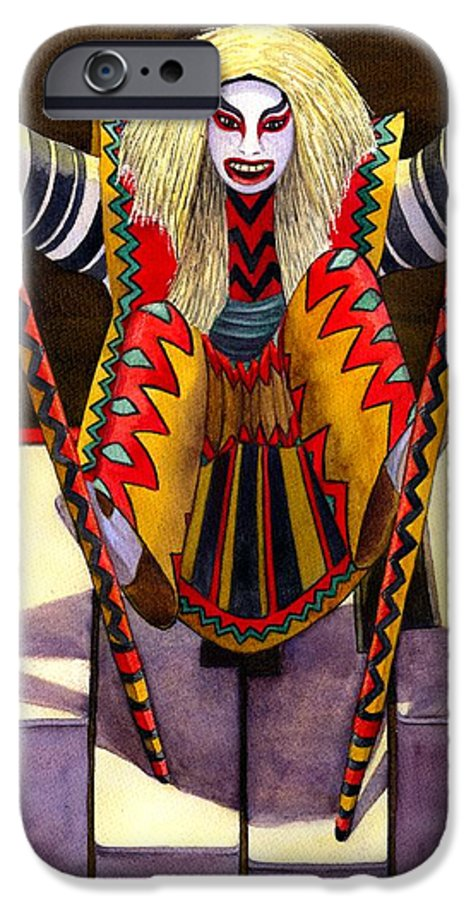 Kabuki IPhone 6s Case featuring the painting Kabuki Chopsticks 1 by Catherine G McElroy