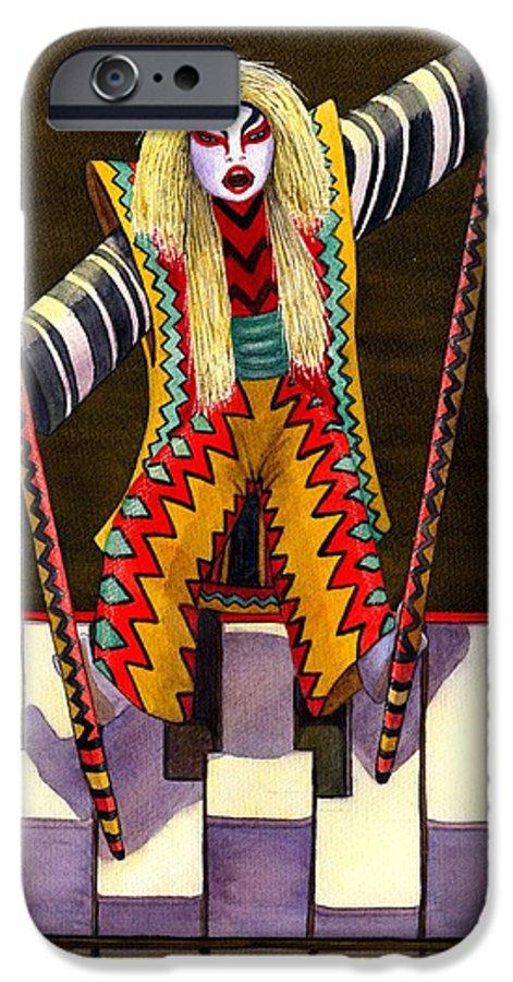 Kabuki IPhone 6s Case featuring the painting Kabuki Chopsticks 2 by Catherine G McElroy