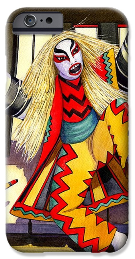 Kabuki IPhone 6s Case featuring the painting Kabuki Chopsticks 3 by Catherine G McElroy