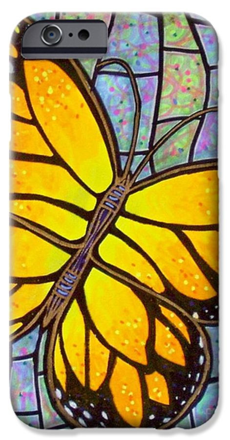 Butterflies IPhone 6s Case featuring the painting Karens Butterfly by Jim Harris