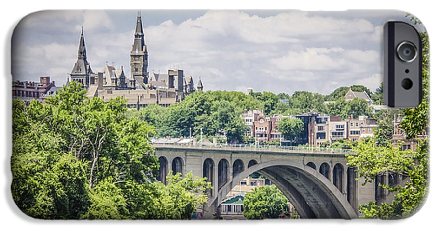 Bradley Clay IPhone 6s Case featuring the photograph Key Bridge And Georgetown University by Bradley Clay