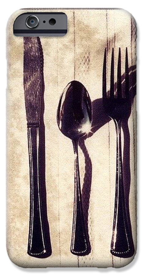 Forks IPhone 6s Case featuring the photograph Lets Eat by Jane Linders