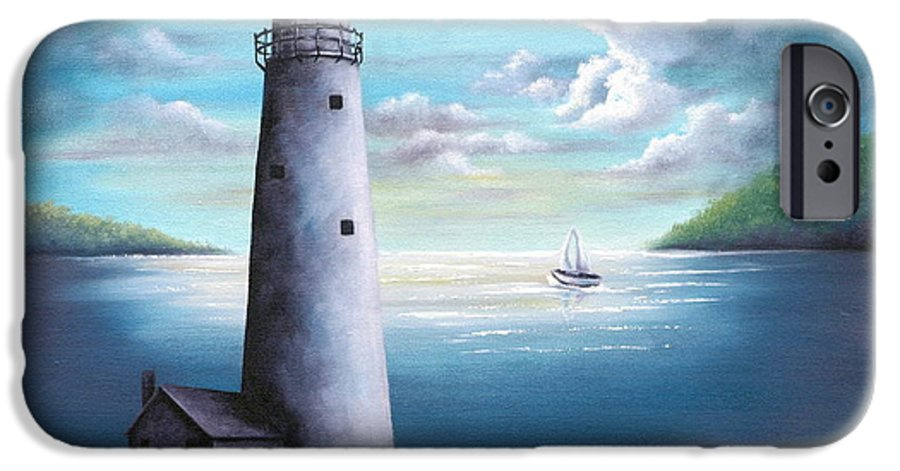 Oil IPhone 6s Case featuring the painting Lighthouse by Ruth Bares
