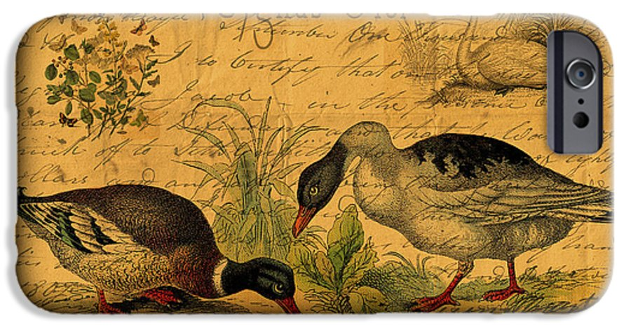 Mallards IPhone 6s Case featuring the digital art Mallards And Swan Collage by Sarah Vernon