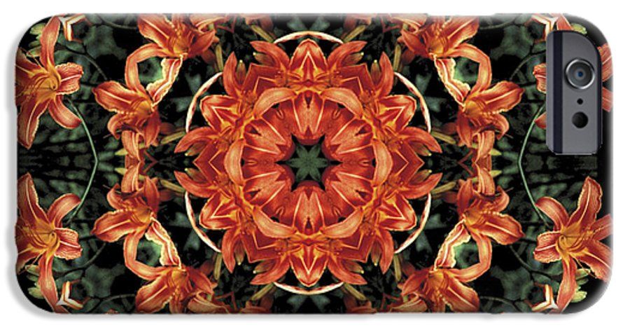 Mandala IPhone 6s Case featuring the photograph Mandala Daylily by Nancy Griswold