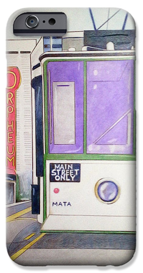 Landscape IPhone 6s Case featuring the drawing Memphis Trolley by Loretta Nash