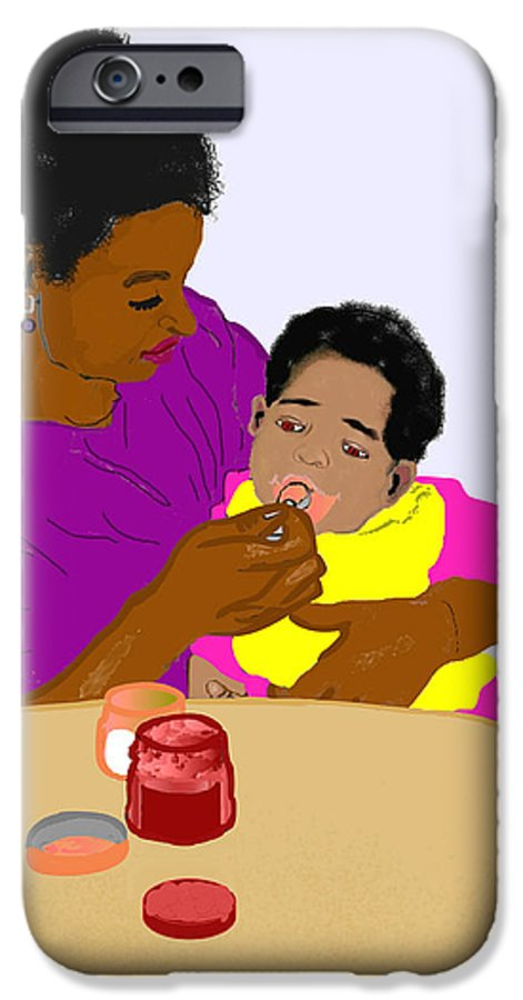 Mother IPhone 6s Case featuring the painting Mother Feeding Her Baby by Pharris Art