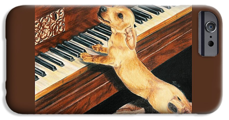 Purebred Dog IPhone 6s Case featuring the drawing Mozart's Apprentice by Barbara Keith