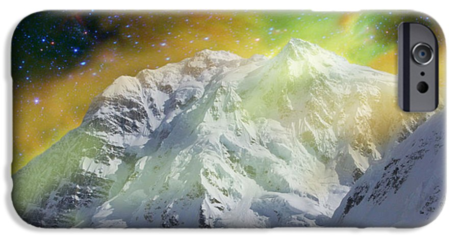 Alaska IPhone 6s Case featuring the photograph Mt. Hunter Aurora # Da 129 by Dianne Roberson