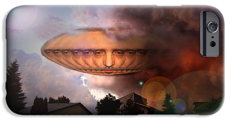 Surrealism IPhone 6s Case featuring the digital art Mystic Ufo by Otto Rapp