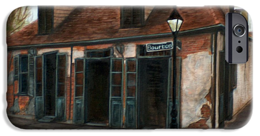 Realism IPhone 6s Case featuring the painting New Orleans Familiar Site Before by M J Venrick