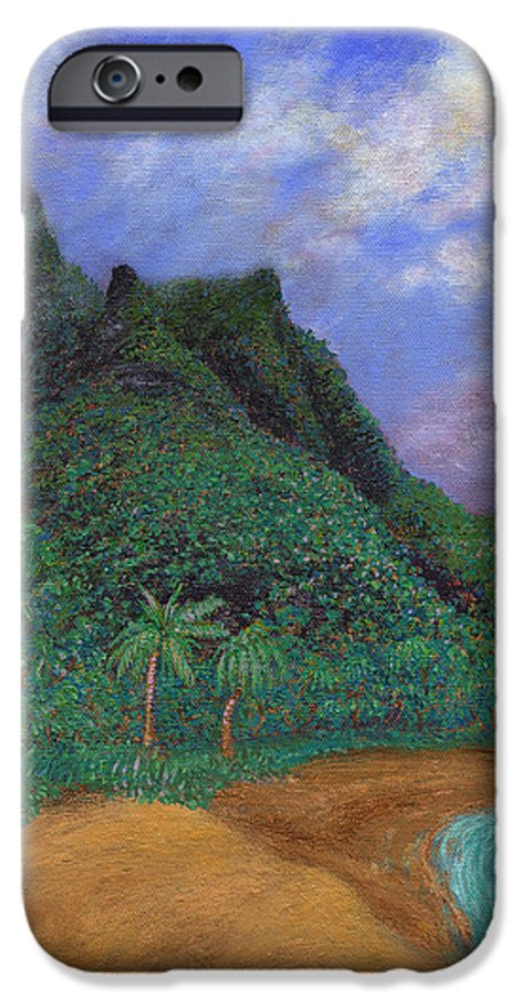Coastal Decor IPhone 6s Case featuring the painting On The North Shore by Kenneth Grzesik