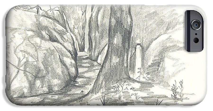 Passageway At Elephant Rocks IPhone 6s Case featuring the drawing Passageway At Elephant Rocks by Kip DeVore