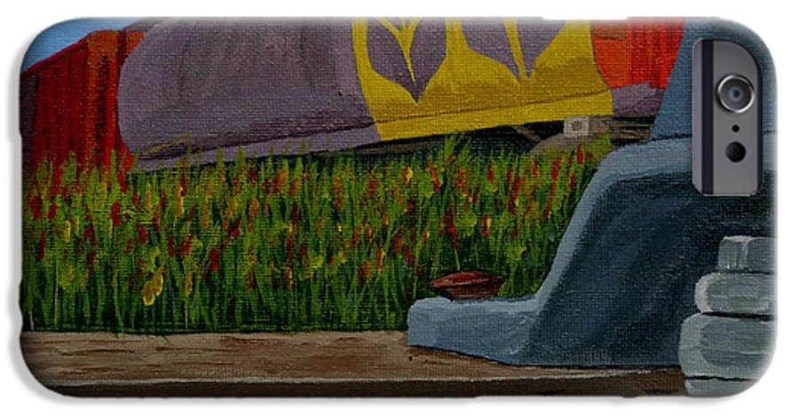 Train IPhone 6s Case featuring the painting Passing The Wild Ones by Anthony Dunphy