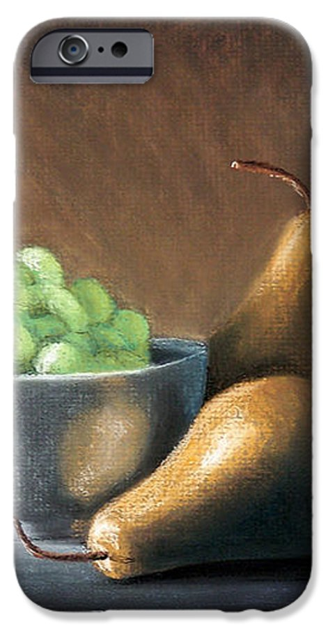 Pastel IPhone 6s Case featuring the painting Pears And Grapes by Joseph Ogle