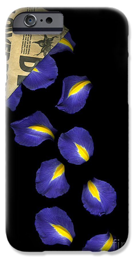 Scanography IPhone 6s Case featuring the photograph Petal Chips by Christian Slanec