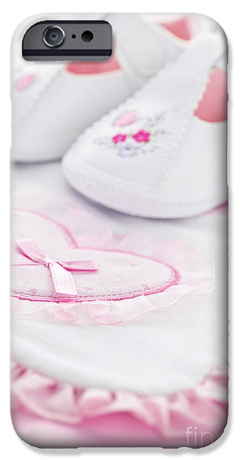 Baby Clothes IPhone 6s Case featuring the photograph Pink Baby Girl Clothes by Elena Elisseeva
