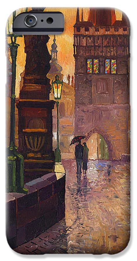 Prague IPhone 6s Case featuring the painting Prague Charles Bridge 01 by Yuriy Shevchuk
