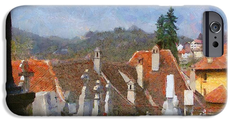 Architecture IPhone 6s Case featuring the painting Quiet Neighbors by Jeff Kolker