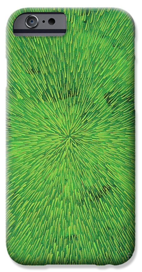 Abstract IPhone 6s Case featuring the painting Radiation Green by Dean Triolo