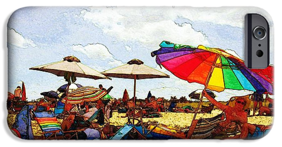 Beach Ball IPhone 6s Case featuring the photograph Safe From The Wind by Jeffrey Todd Moore