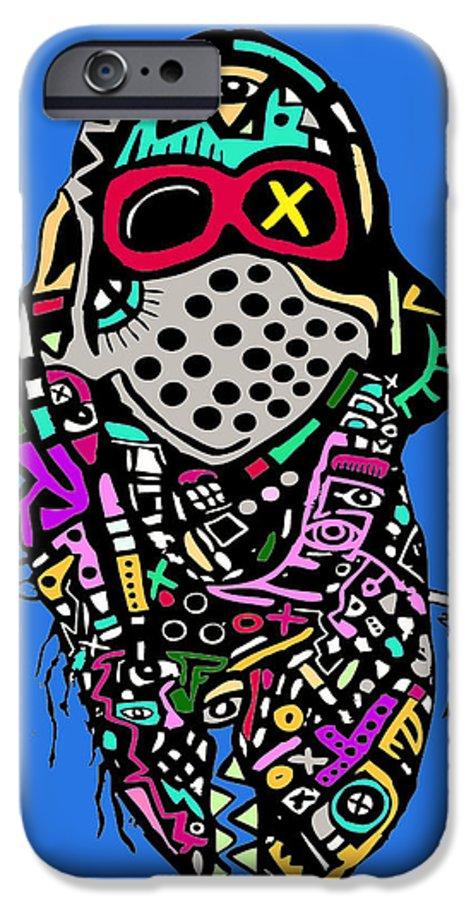 Digitalart IPhone 6s Case featuring the digital art Scarfo by Kamoni Khem