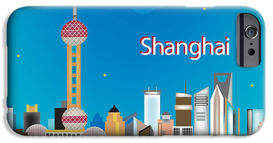 Shanghai IPhone 6s Case featuring the digital art Shanghai by Karen Young