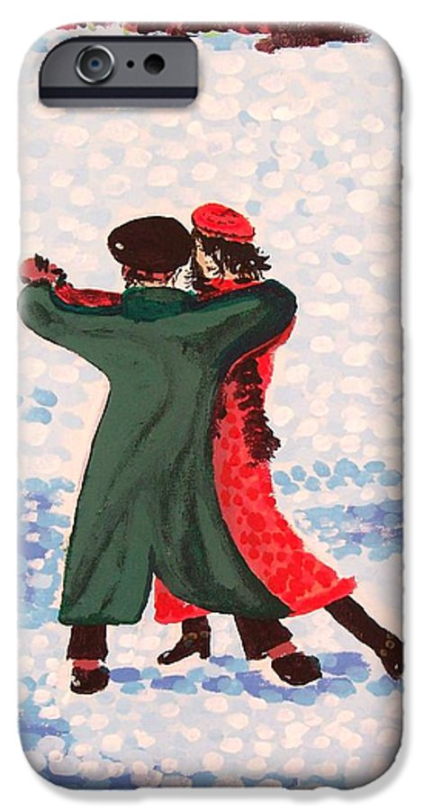 Snow IPhone 6s Case featuring the painting Snow Tango by Alan Hogan