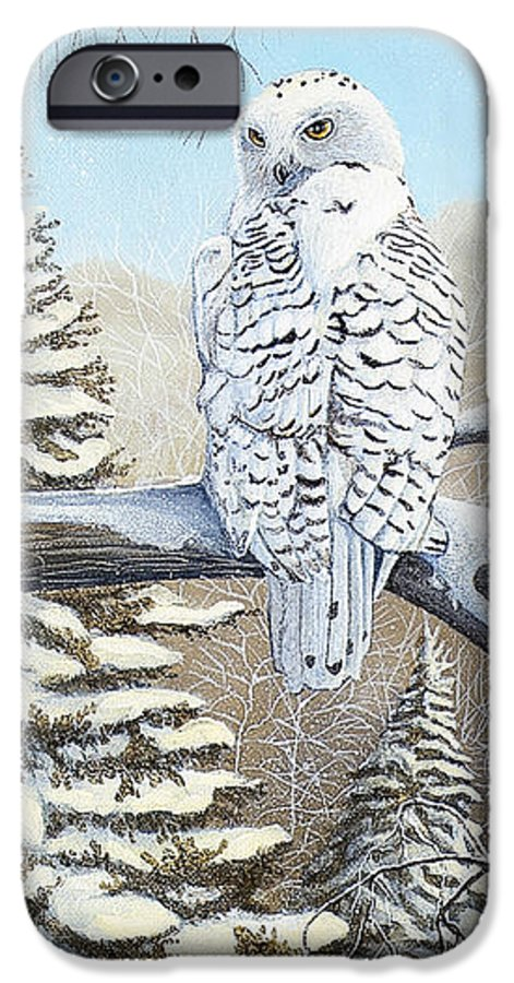 Rick Huotari IPhone 6s Case featuring the painting Snowy Owl by Rick Huotari