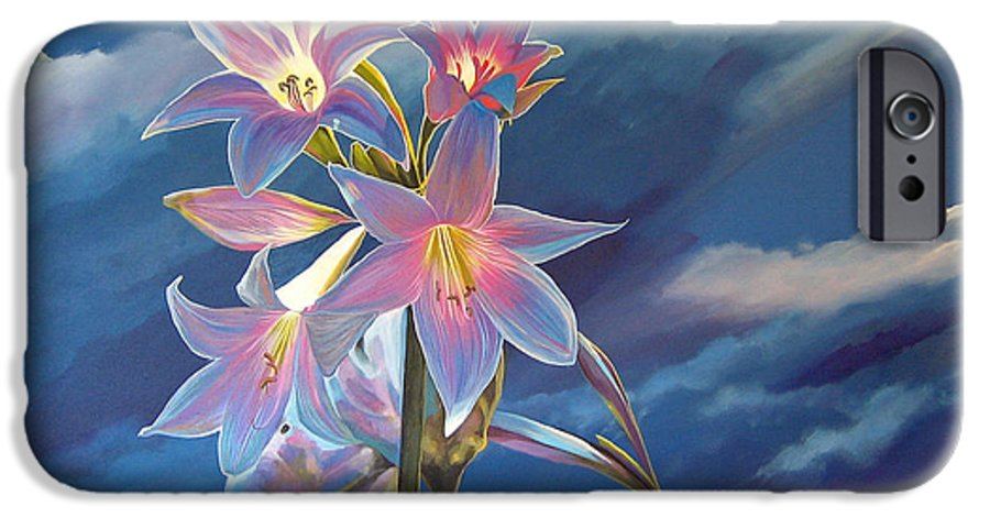 Botanical IPhone 6s Case featuring the painting Spellbound by Hunter Jay