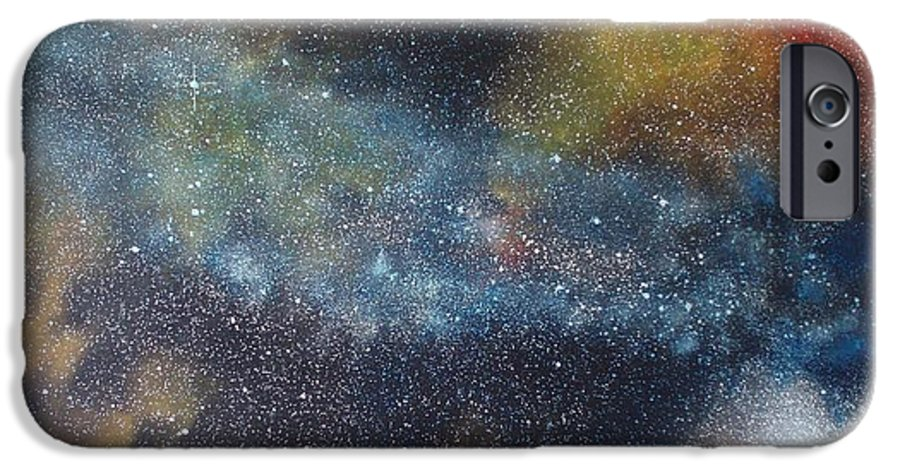 Space;stars;starry;nebula;spiral;galaxy;star Cluster;celestial;cosmos;universe;orgasm IPhone 6s Case featuring the painting Stargasm by Sean Connolly