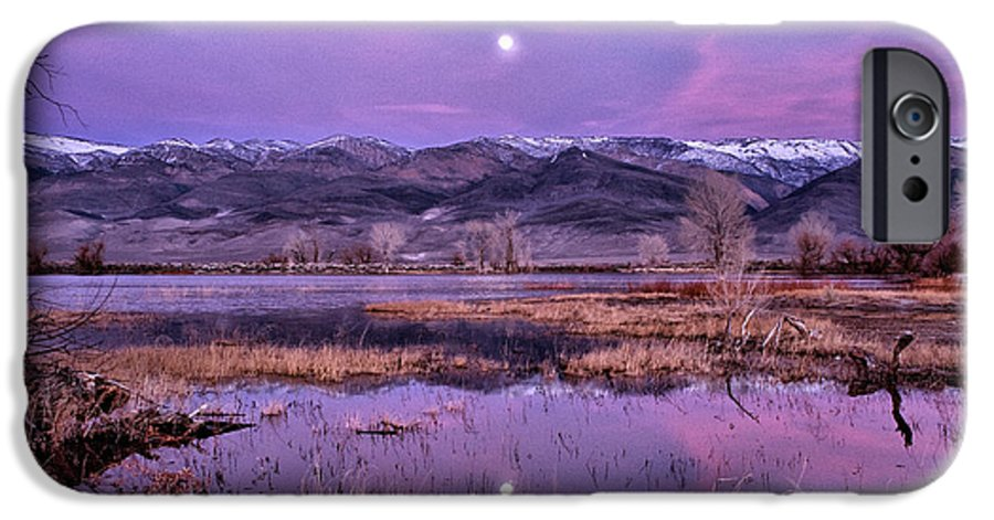 Sunset IPhone 6s Case featuring the photograph Sunset And Moonrise At Farmers Pond by Cat Connor