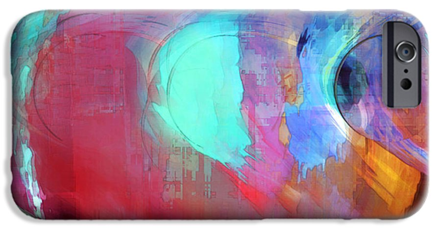 Abstract IPhone 6s Case featuring the digital art The Afterglow by Linda Sannuti
