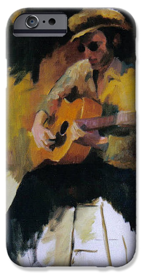 Man IPhone 6s Case featuring the painting The Blues Man by John L Campbell