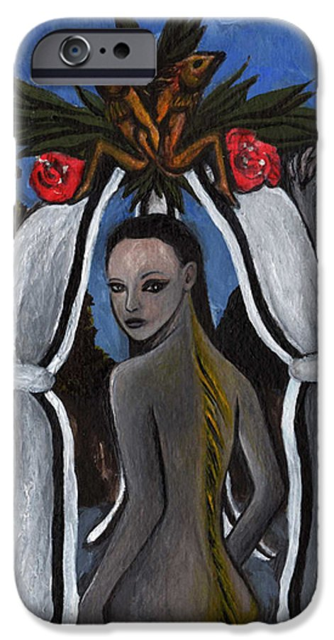 Mermaid IPhone 6s Case featuring the painting The Fable Of The Fish by Ayka Yasis