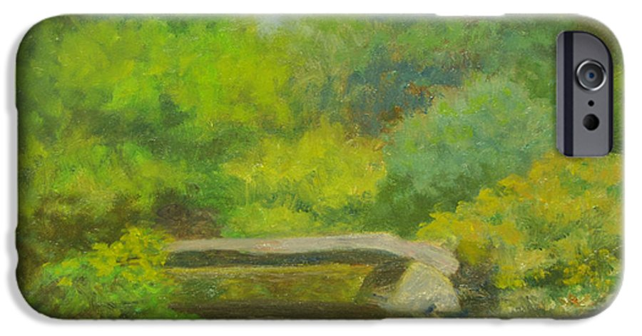 Landscape IPhone 6s Case featuring the painting The Greens Of Summer by Phyllis Tarlow