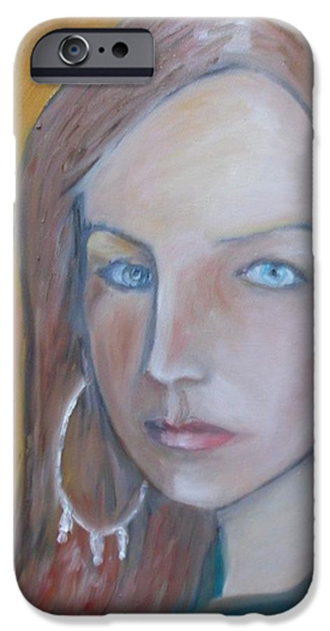 Portraiture IPhone 6s Case featuring the painting The H. Study by Jasko Caus