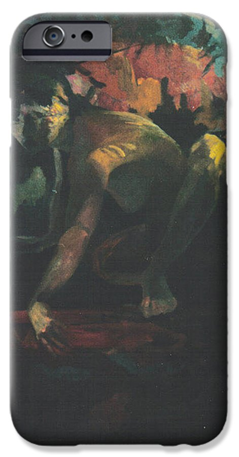 Figure IPhone 6s Case featuring the painting The Hot Tub by John L Campbell