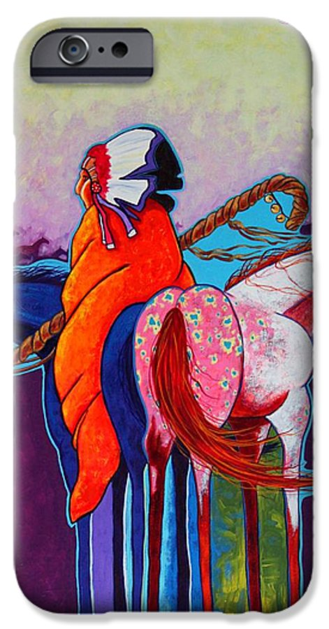Native American IPhone 6s Case featuring the painting The Peacemakers Gift by Joe Triano