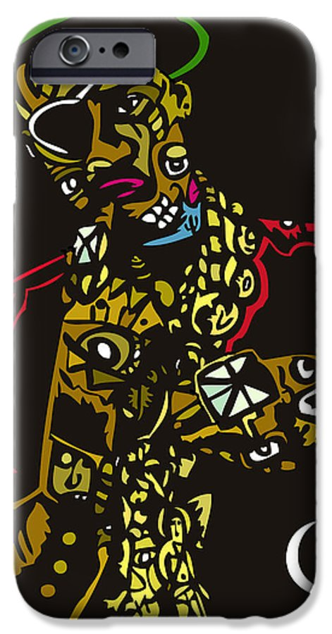 A Popstract Version Of A Hip Hop Iconic Rapper Slick Rick IPhone 6s Case featuring the digital art The Ruler by Kamoni Khem
