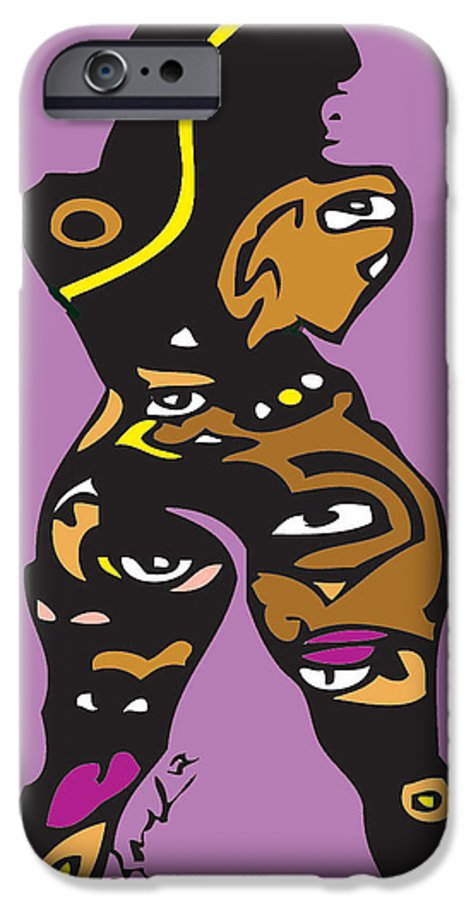 Butt IPhone 6s Case featuring the digital art Thickemz by Kamoni Khem