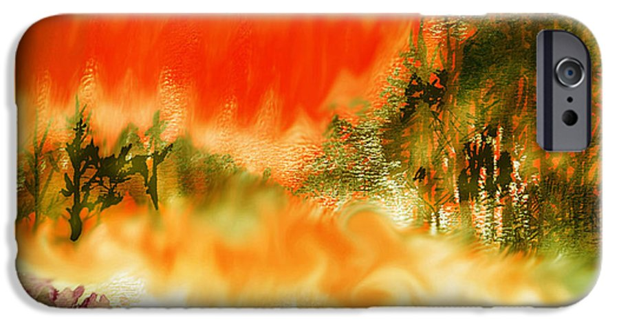 Timber Blaze IPhone 6s Case featuring the mixed media Timber Blaze by Seth Weaver