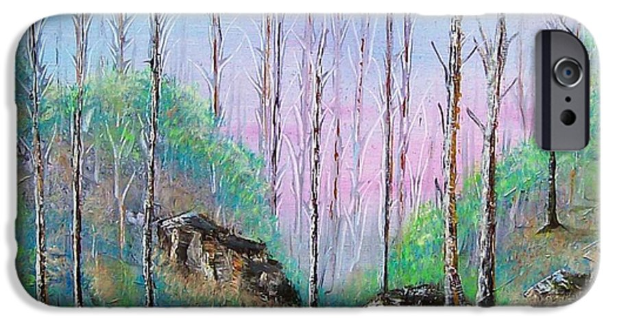 Landscape IPhone 6s Case featuring the painting Trees With Cuatro by Tony Rodriguez