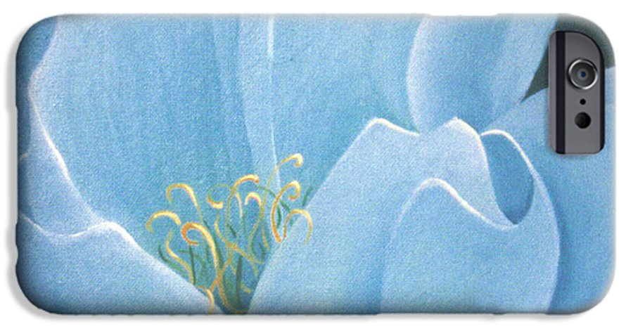 Turquoise IPhone 6s Case featuring the painting Turquoise Waterlily by Christina Rahm Galanis