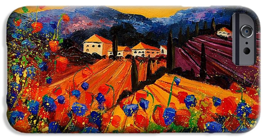 Poppies IPhone 6s Case featuring the painting Tuscany Poppies by Pol Ledent
